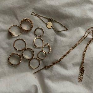 Gold Costume Jewelry Bundle